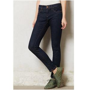 Pilcro Anthropologie | Dark Serif Skinny Jeans